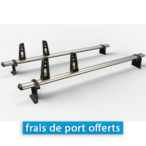kit 2 barres de toit alu renault trafic 2 4 arr toirs. Black Bedroom Furniture Sets. Home Design Ideas